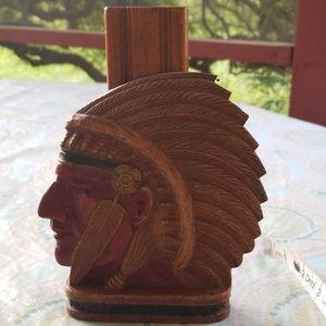 Indian shoe shine brush in caddy